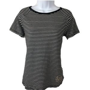 Michaels Kors Stripe Top with back Zipper Small